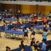 2つの会場を確保して開催 ~第55回中高生卓球大会~