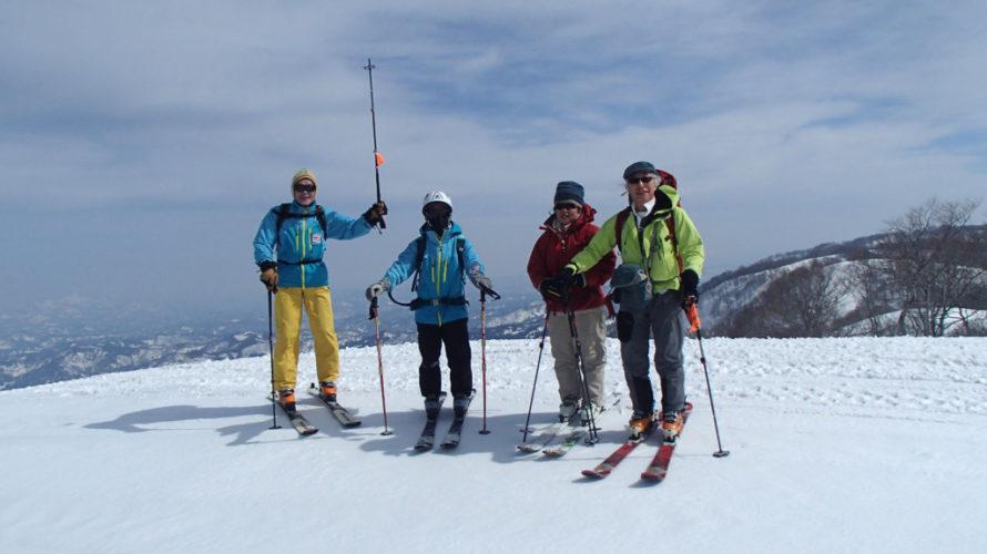 菱ヶ岳周辺 山スキー体験記 東京スキー協の行事から