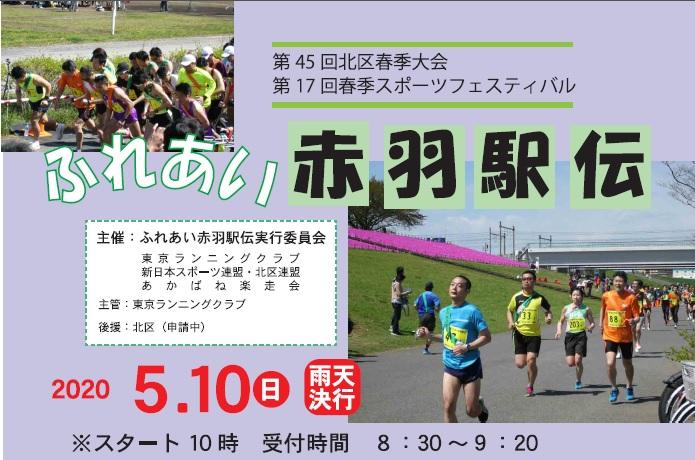 2020年5月10日(日)第17回春季スポーツフェスティバル ふれあい赤羽駅伝