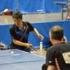 3月卓球シングルスプ ログレスリーグ大会の様子