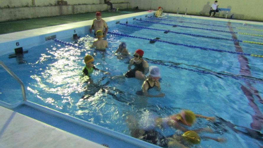 北区立王子プールで初心者水泳教室を開催しました。